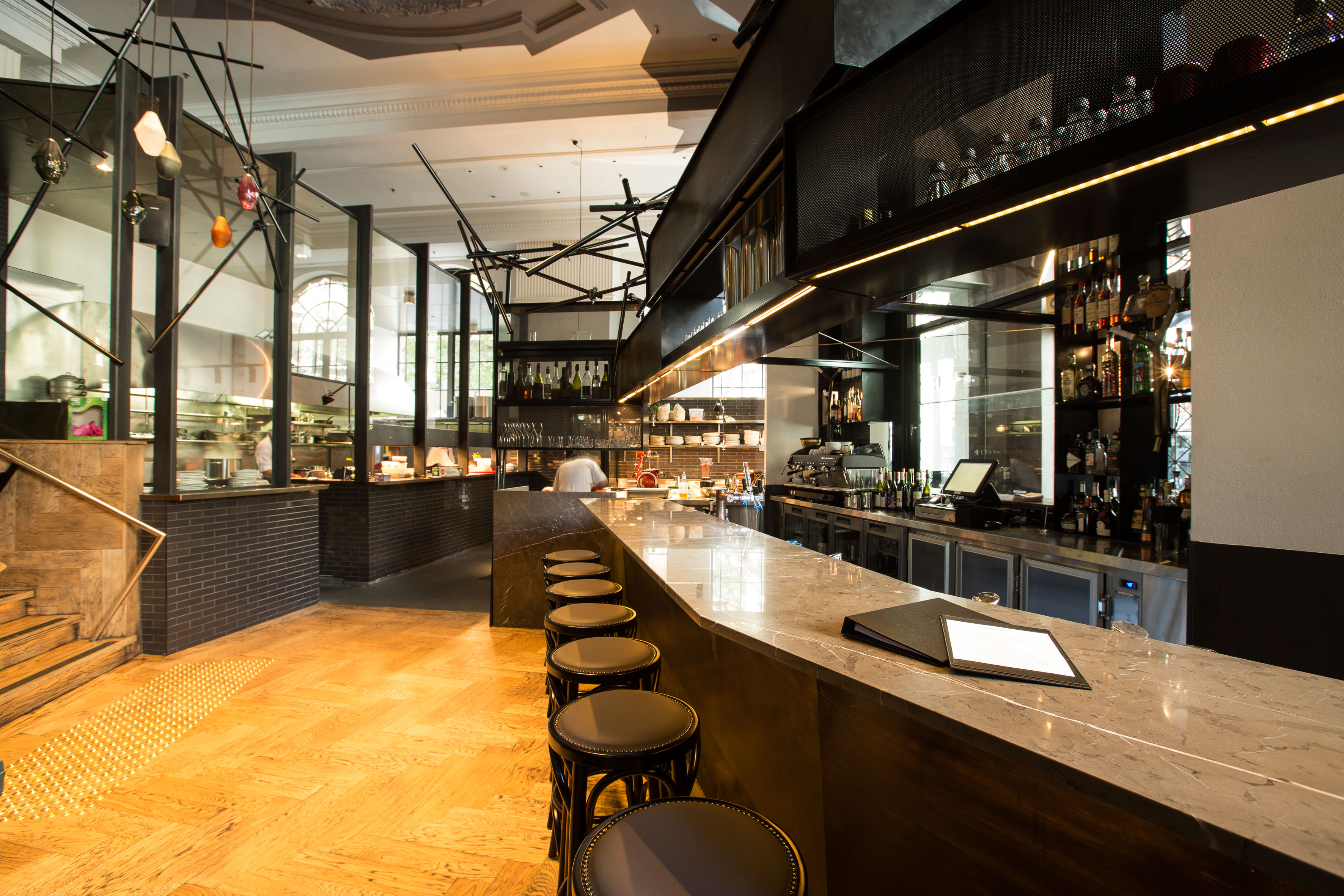 Bentley Restaurant and Bars' strong partnership with Moffat has been in place since 2006, and the new fit-out benefitted from the shared history.