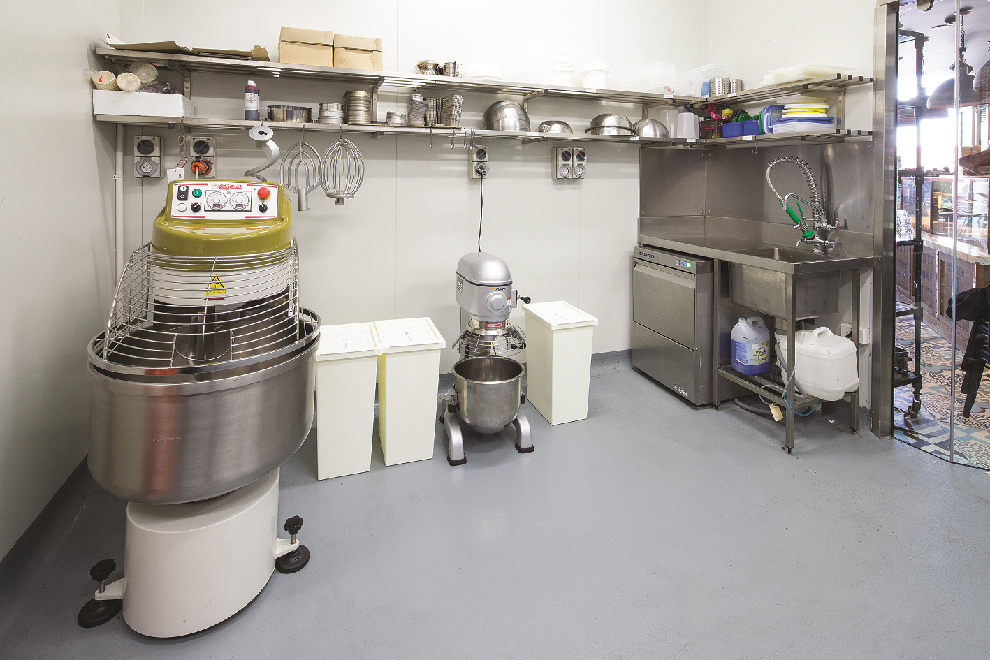 The Frelingos installed a wide range of Moffat equipment including a Tagliavini 9 Tray Deck Oven, Sottoriva Twist 60 Spiral Mixer and much more.