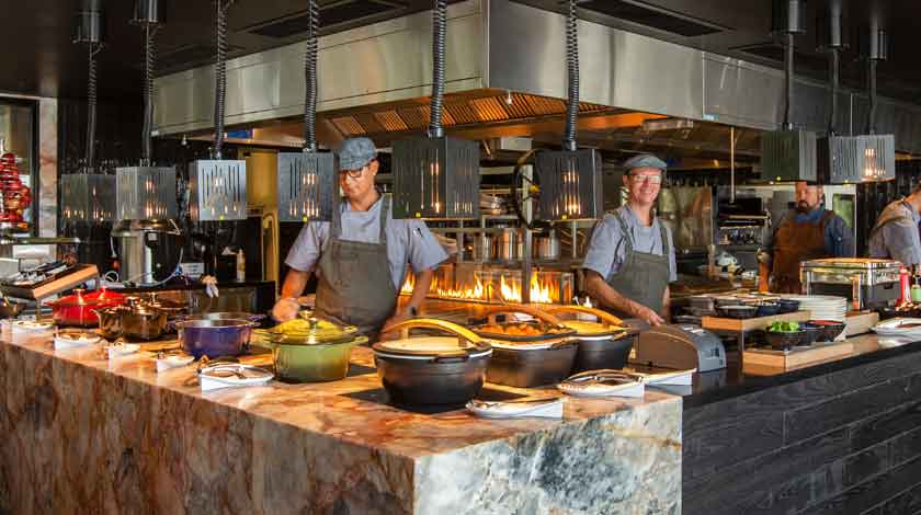 Crystalbrook collection hotels commercial kitchen